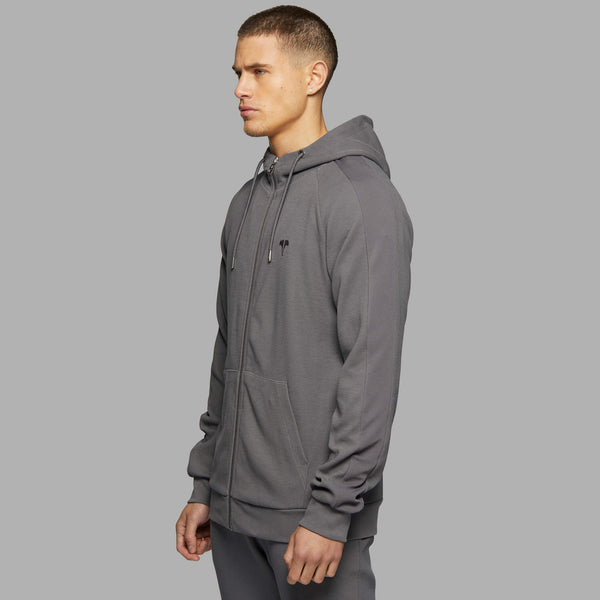 PRM Full-Zip Hood - Grey