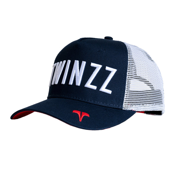 CORE TRI-COLOUR TRUCKER - Navy/White/Red