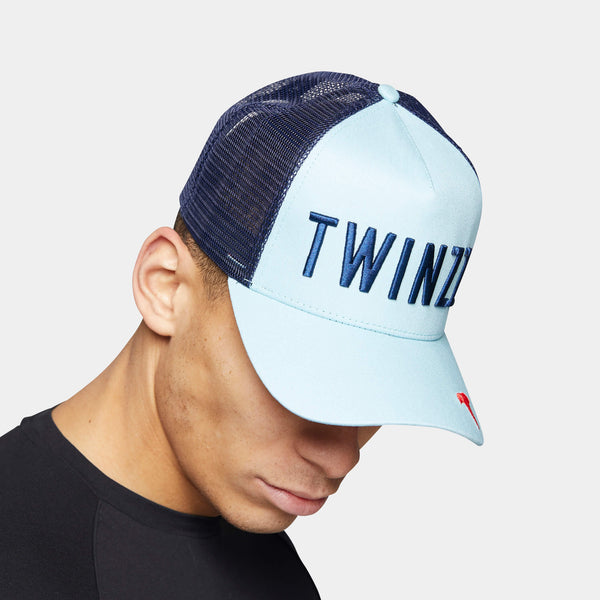 Tri-Colour Trucker - Light Blue/Navy/Red