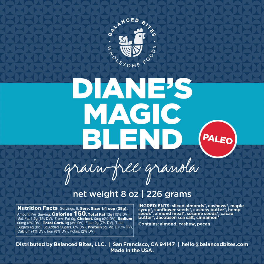 Diane's Magic Blend PALEO Granola | Balanced Bites Wholesome Foods