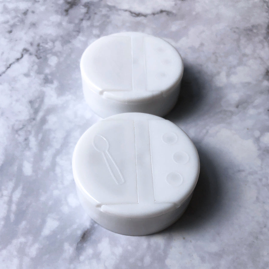 Replacement Caps for Balanced Bites Spices LARGE Jars (set of 2)