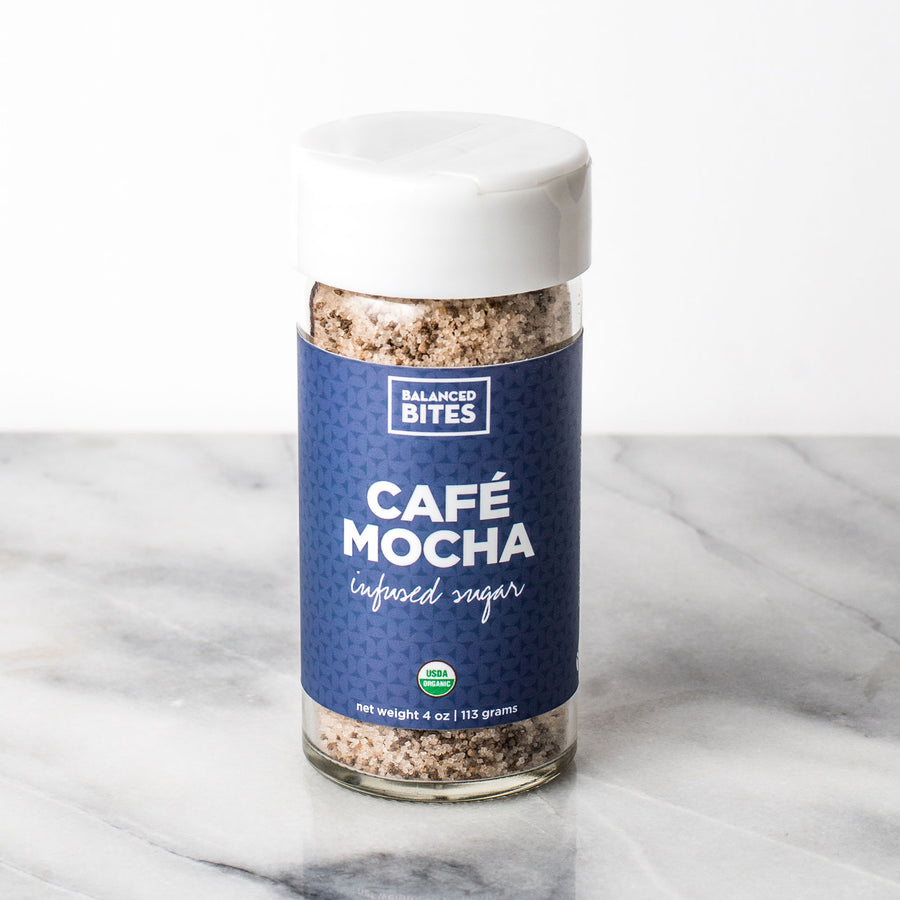 CAFE MOCHA organic infused sugar | Balanced Bites