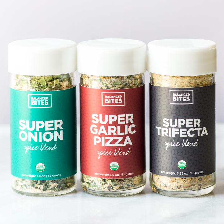 """SUPER BLENDS"" 3-pack of organic spice blends"
