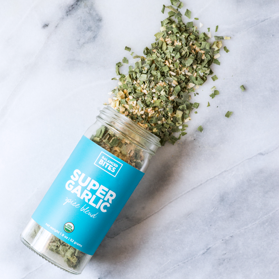 SUPER GARLIC spice blend | Balanced Bites Spices Organic Spices
