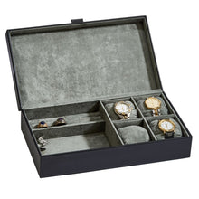 Load image into Gallery viewer, Men's bedside box for watches, jewelry, wallet, cards. Personalize for you main man.