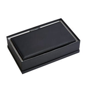 Men's bedside box for watches, jewelry, wallet, cards.  Leather. Personalize for you main man.