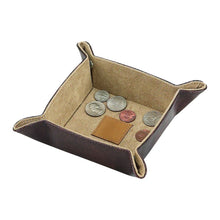 Load image into Gallery viewer, Snap Tray Organizer - Brown Leatherette. Custom Monogram Available