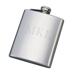 Stainless Steel Matte Finish Flask Gift Boxed. Custom Engraving Available