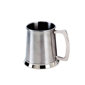 Stainless Steel Beer Tankard Mug. Gift Boxed and Custom Engraving Available.