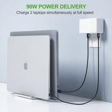 Load image into Gallery viewer, Nekmit USB C Charger, 90W 4 Port Power Delivery PD 3.0 PPS Fast Charger, for MacBook, Dell XPS 13, Galaxy S20/S10, Note 10+/10, iPhone 12/12 Pro/12 Pro Max/11/11 Pro/XR/Xs/X, iPad Pro, Pixel