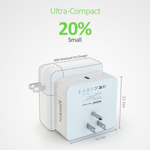 Nekmit 61W USB-C Space Saving PD 3.0 MacBook Pro Charger