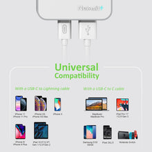 Load image into Gallery viewer, Nekmit USB C Travel Charger, Foldable Thin Flat 60W GaN Tech Dual Port Wall Charger with Power Delivery PD 3.0