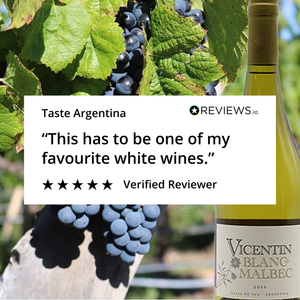 Another great Review for the Vicentin Blanc de Malbec!