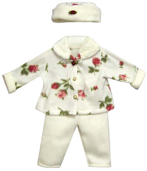3-Piece Polar Floral Fleece Pants Set