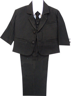 5 Piece Baby Boys Black Formal Suit