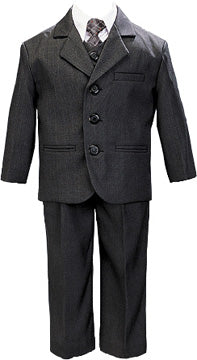 5-Piece Special Occasion Dress Suit Grey