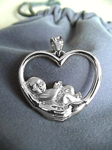 """A Mother's Heart"" Charm Sterling Silver"