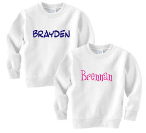 Personalized Custom Name Sweatshirt