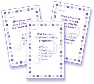 Baby Trivia Baby Shower Game