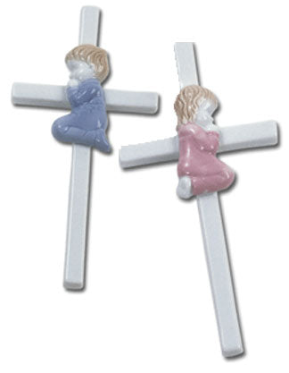 Baby's Hand Painted Porcelain Cross
