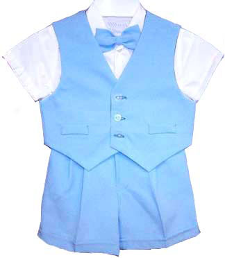 Big Boys Light Blue Dressy Shorts Set