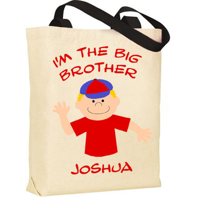 Big Brother Personalized Tote Bag