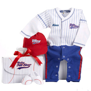"""Big Dreamzzz"" Baby Baseball Three-Piece Layette Set"