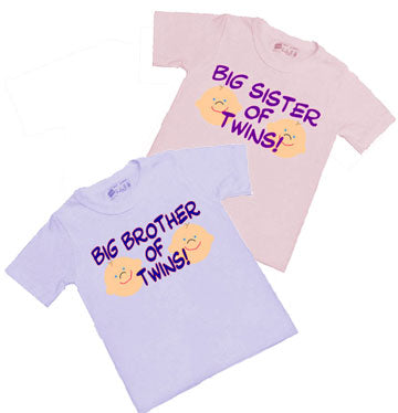 Big Sister/Big Brother of Twins Shirt