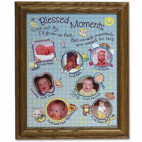 blessed moments baby photo collage frame mymiraclebaby