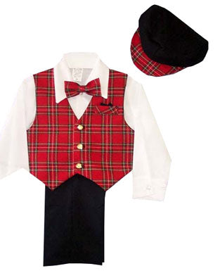 Boys 5 Piece Dressy Christmas Suit