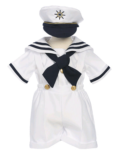 Boys Nautical Sailor Short Set