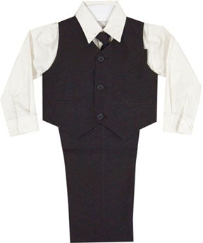Boys Special Occasion 4 Piece Chocolate Suit
