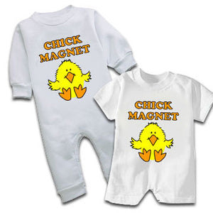 """Chick Magnet"" Baby Romper"