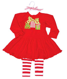 Christmas Dress and Leggings