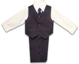 Dapper Infant & Toddler Boys Pinstripe Suit