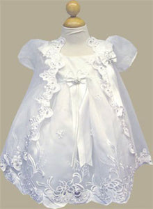 Full Length Satin Christening /Baptism Gown