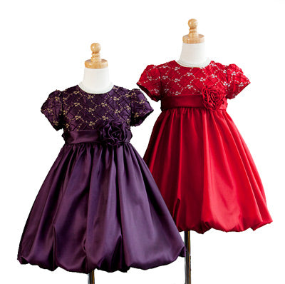 Girls Bubble Style Party Dress