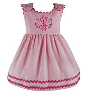Girls Monogrammed Custom Bon Bon Corduroy Dress