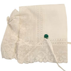 Irish Linen Keepsake Bonnet with Poem