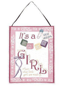 """It's a Girl!"" Wall Hanging"