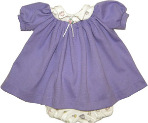 Lavender Preemie Dress Set