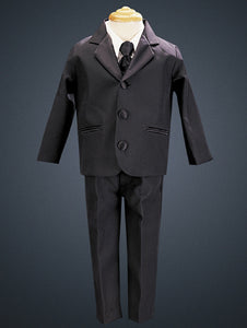 Lito Boys' 3-button Tuxedo with Solid Vest