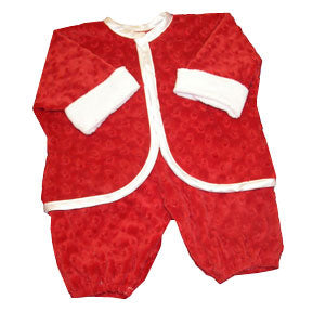 Minky Dot Super Soft Santa Suit