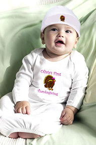 """My 1st Thanksgiving"" Gown & Hat Set"
