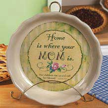 "New Mother ""Mom"" Pie Plate"