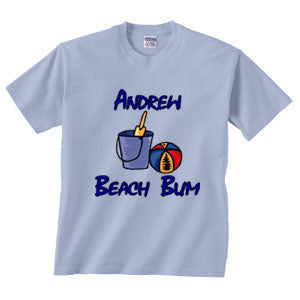 Personalized Beach Bum Tee
