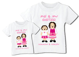 "Personalized ""Me and My Sister"" Tee Shirt"