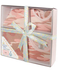 Personalized Four-Piece Camo Baby Gift Set