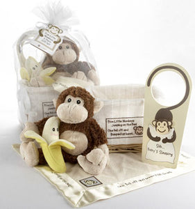 Personalized 5 Little Monkeys Keepsake Gift Basket