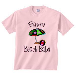 Personalized Beach Babe Tee